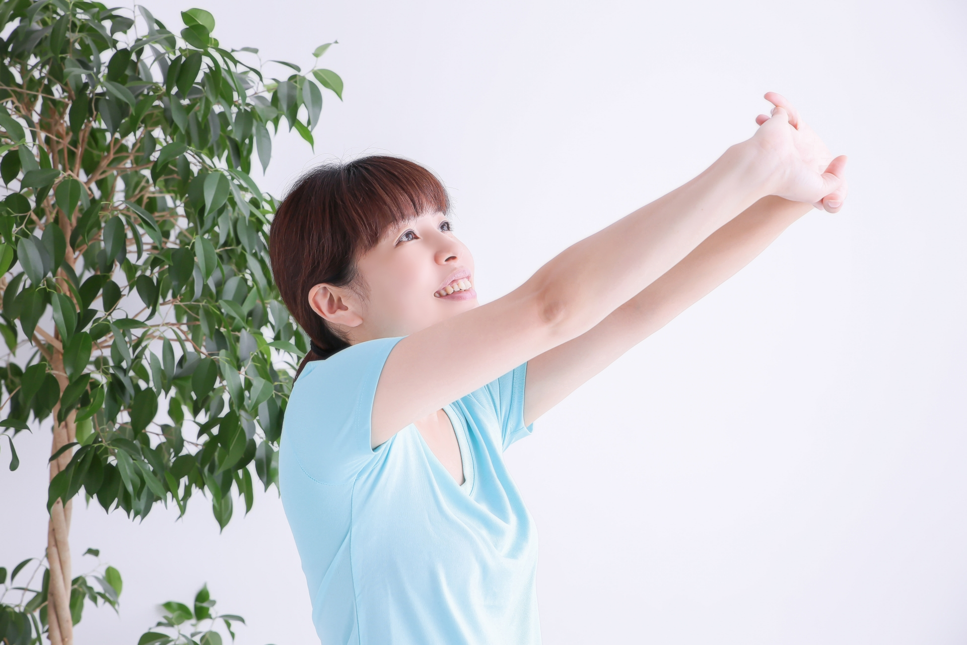 運動してストレス発散している女性