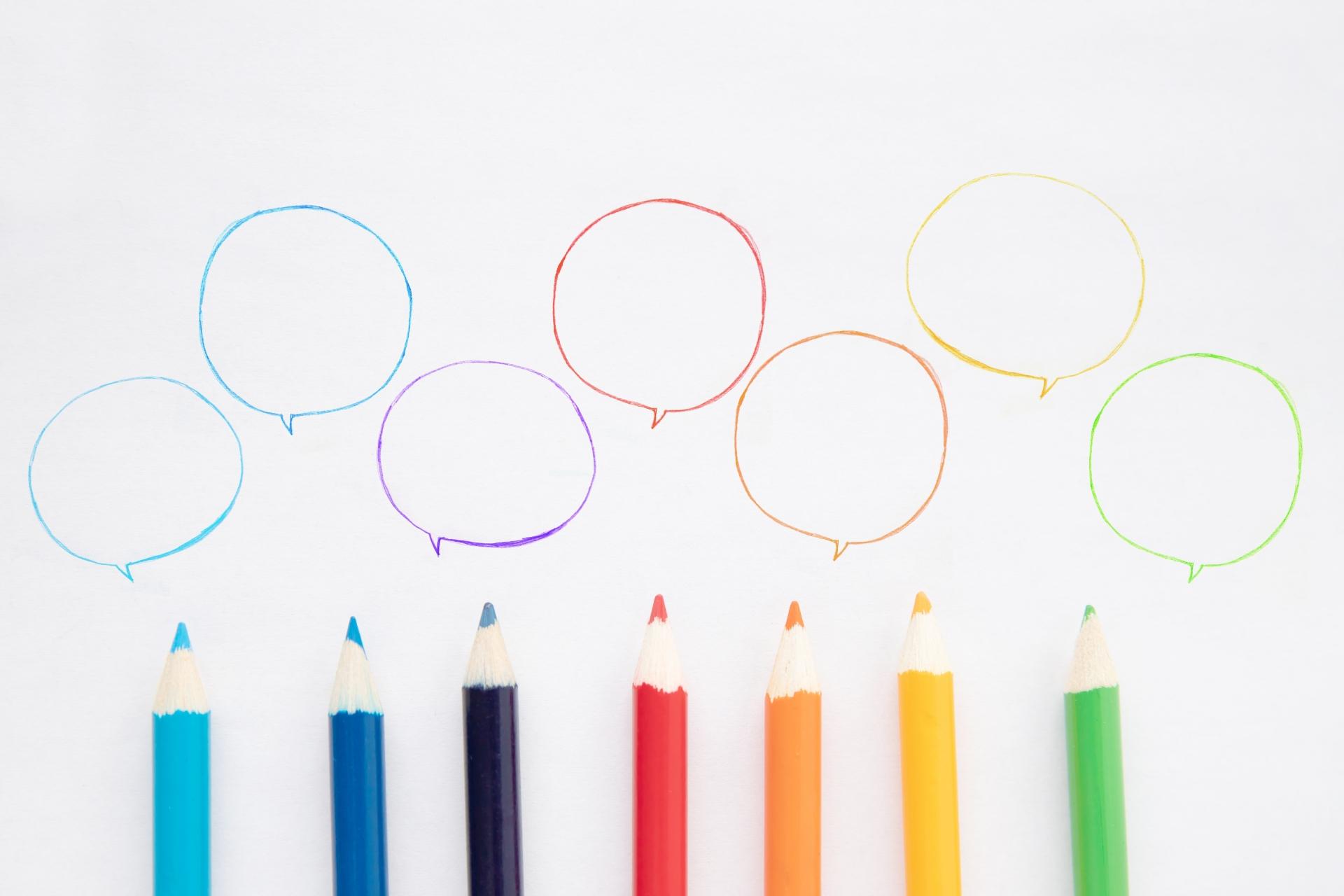 様々な色鉛筆