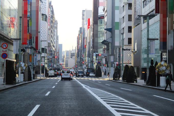 朝の街並み