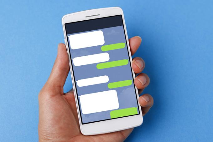 スマートフォンにメッセージがある
