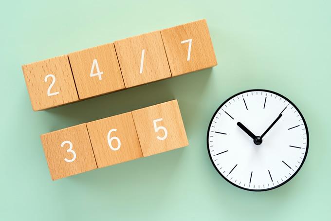 時計と日付の積み木